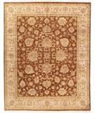 RugStudio presents Due Process Kashmir Agra Rust-Beige Hand-Knotted, Best Quality Area Rug